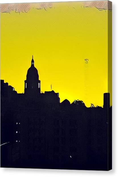 Austin Capital At Sunrise Canvas Print