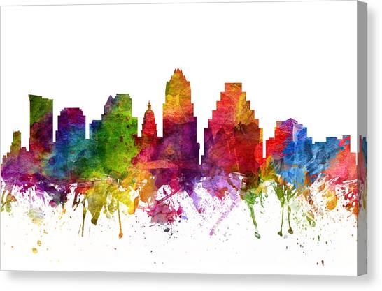 Austin Skyline Canvas Print - Austin Cityscape 06 by Aged Pixel