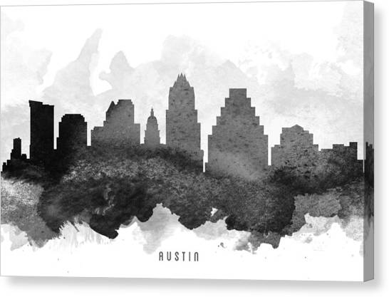 Austin Skyline Canvas Print - Austin Cityscape 11 by Aged Pixel