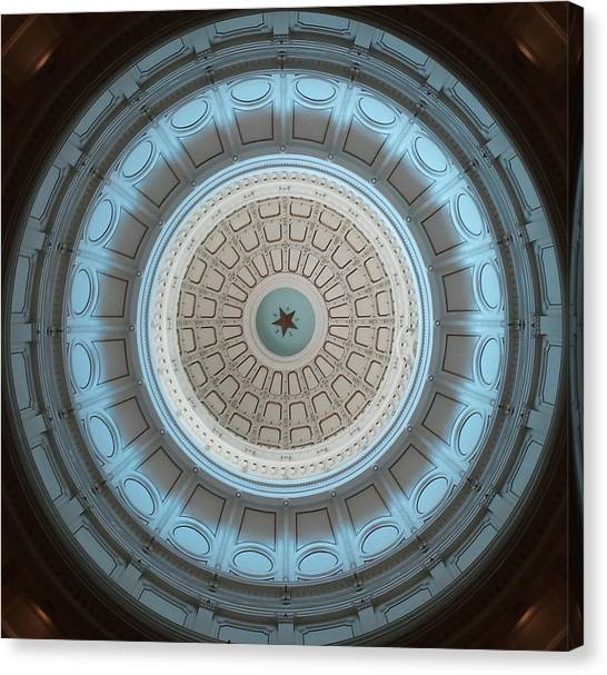 Austin Capitol Dome In Gray And Blue Canvas Print