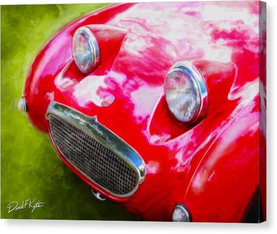 Austin Healey Bugeye Sprite Canvas Print by David Kyte
