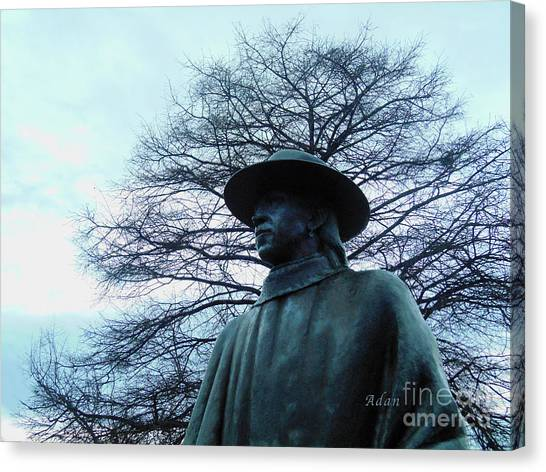 Austin Hike And Bike Trail - Iconic Austin Statue Stevie Ray Vaughn - Two Canvas Print