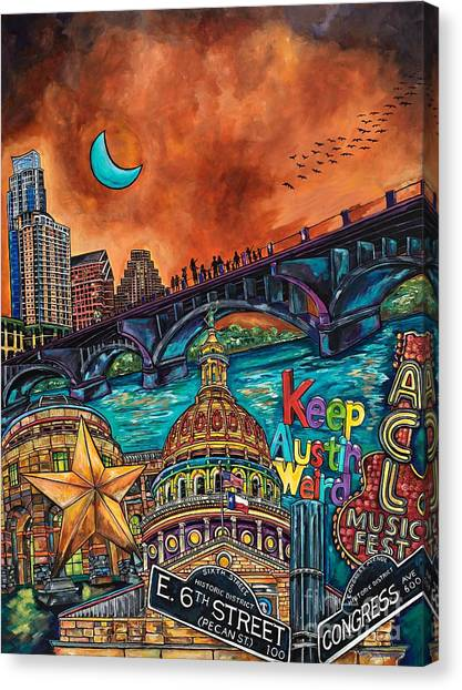 Austin Keeping It Weird Canvas Print