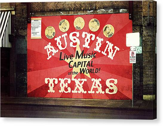 Austin Texas Canvas Print - Austin Live Music by Trish Mistric