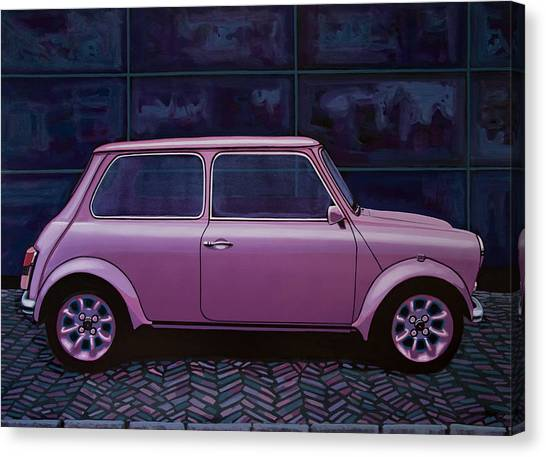 Bmw Canvas Print - Austin Mini Cooper 1964 Painting by Paul Meijering