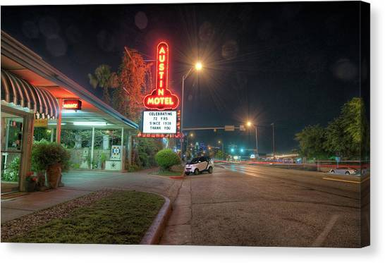 Austin Motel Canvas Print