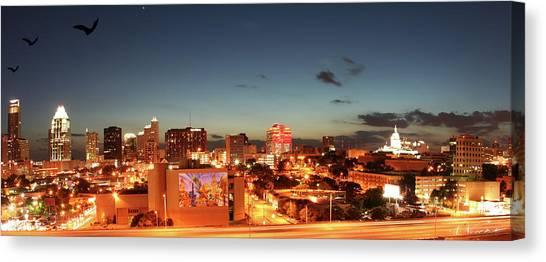 Austin Night Canvas Print