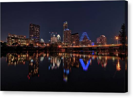 Austin Skyline At Night Canvas Print