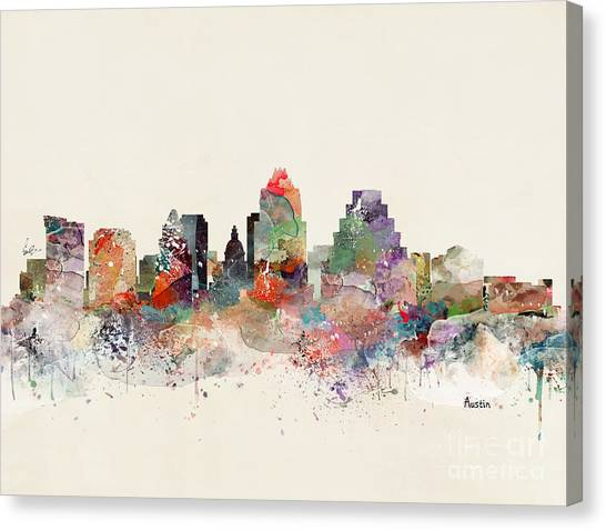 Austin Skyline Canvas Print - Austin Skyline by Bri Buckley