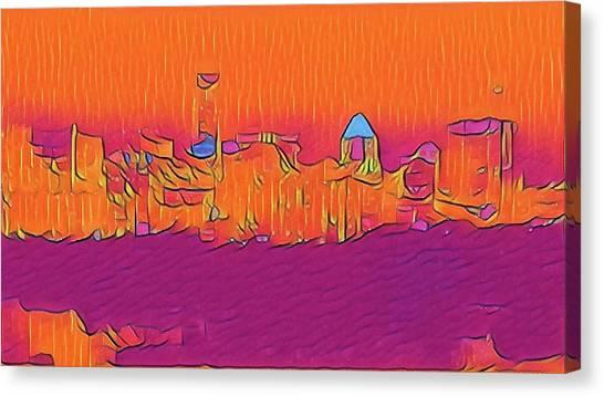Austin Skyline Electric Canvas Print