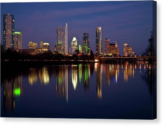 Austin Texas Canvas Print - Austin Skyline by Mark Weaver