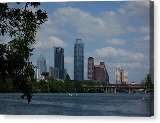 Austin Skyline Canvas Print by Siobhan Yost