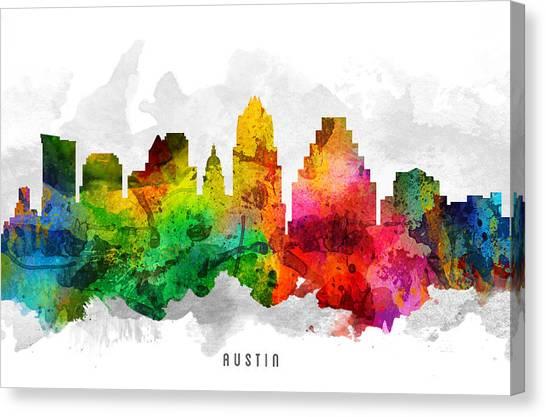 Austin Skyline Canvas Print - Austin Texas Cityscape 12 by Aged Pixel