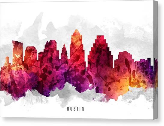 Austin Skyline Canvas Print - Austin Texas Cityscape 14 by Aged Pixel