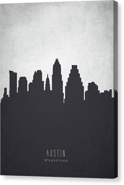 Austin Skyline Canvas Print - Austin Texas Cityscape 19 by Aged Pixel