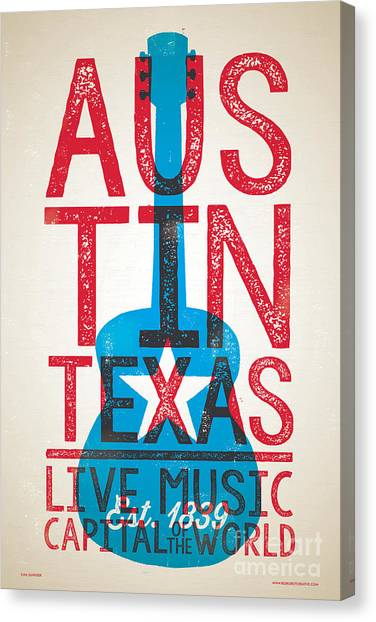 Austin Texas - Live Music Canvas Print