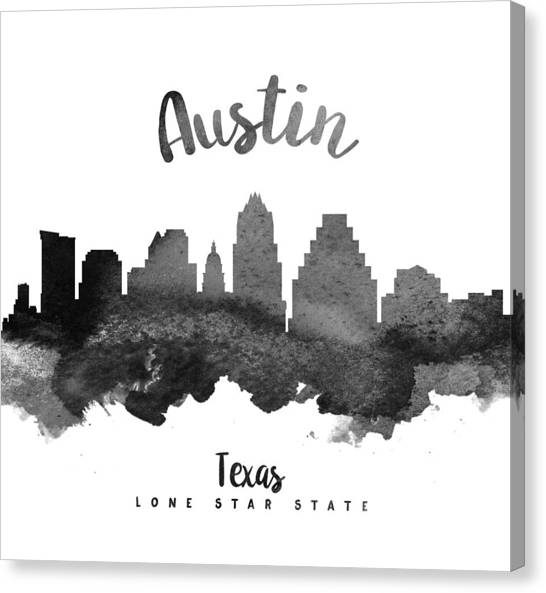 Austin Skyline Canvas Print - Austin Texas Skyline 18 by Aged Pixel