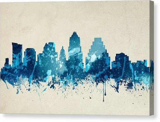 Austin Skyline Canvas Print - Austin Texas Skyline 20 by Aged Pixel