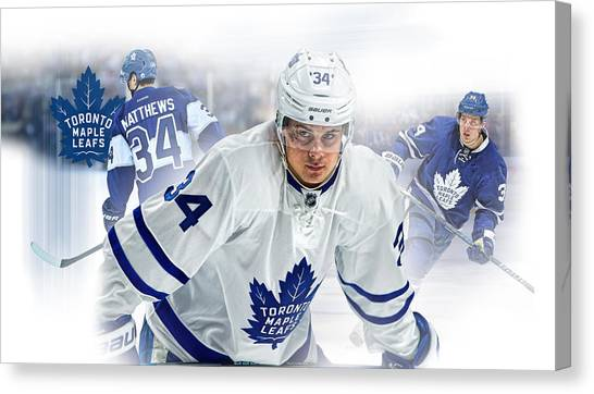 Toronto Maple Leafs Canvas Print - Auston Matthews Phone Case by Nicholas Legault