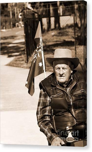 Grandpa Canvas Print - Australian Battler by Jorgo Photography - Wall Art Gallery