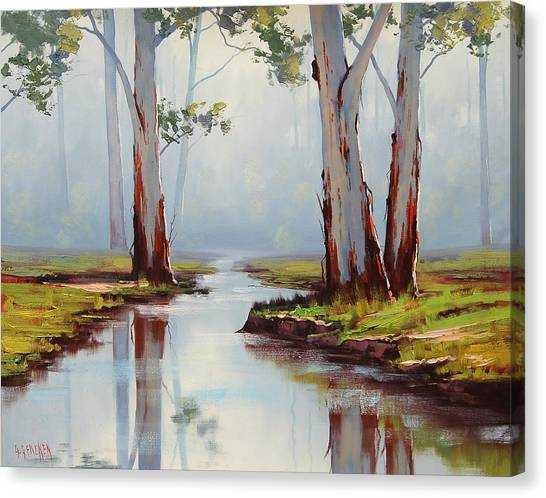 Plein Air Canvas Print - Australian Gum Trees by Graham Gercken