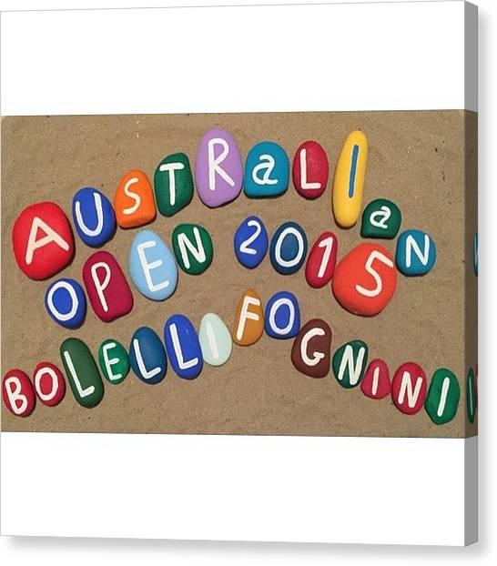 Tennis Players Canvas Print - Australian Tennis Open, Grand Slam by Adriano La Naia