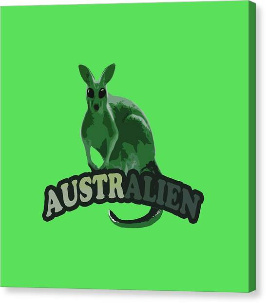 Illegal Aliens Canvas Print - Australian by Voldemaras Lemon