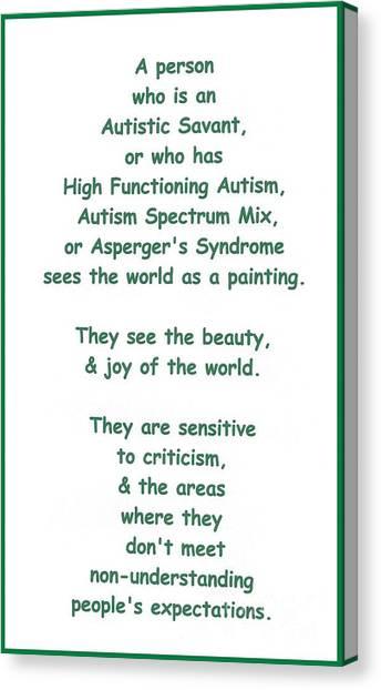 Autism Torture Canvas Print