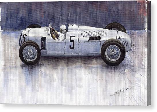 Type Canvas Print - Auto Union 1936 Type C by Yuriy Shevchuk