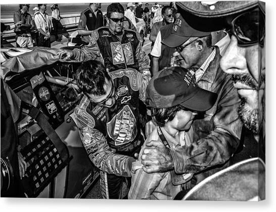 Tony Stewart Canvas Print - autograph Tony Stewart by Kevin Cable
