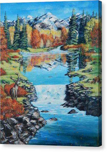 Autum Stag Canvas Print