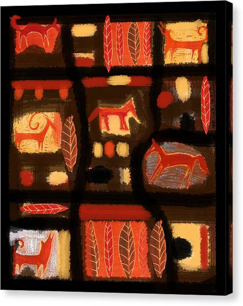 Autumn Canvas Print by Aliza Souleyeva-Alexander