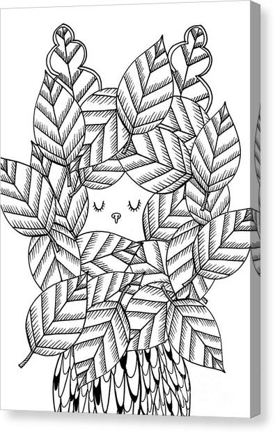 Simplistic Canvas Print - Autumn by Anne Vasko