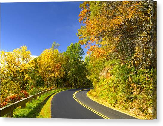 Autumn Appalachian Drive Canvas Print by Darrell Young