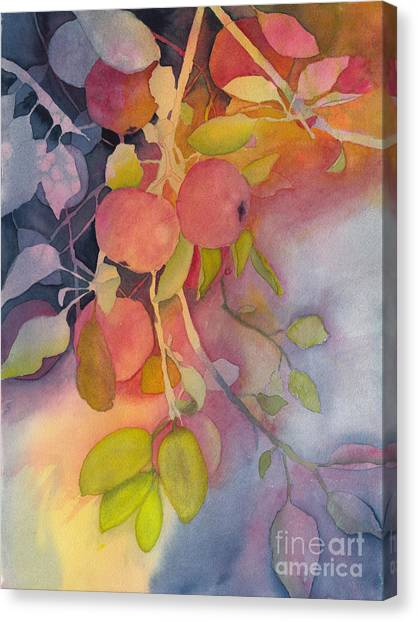 Autumn Apples Full Painting Canvas Print