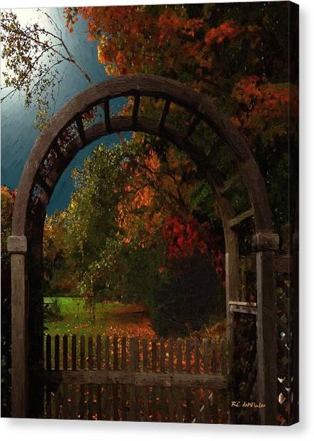 Autumn Archway Canvas Print