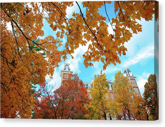 University Of Arkansas Canvas Print - Autumn Around Old Main - University Of Arkansas - Fayetteville by Gregory Ballos