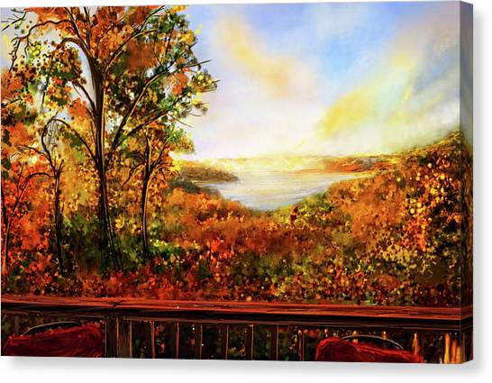 Beavers Canvas Print - Autumn At Beaver Lake -beaver Lake Art by Lourry Legarde