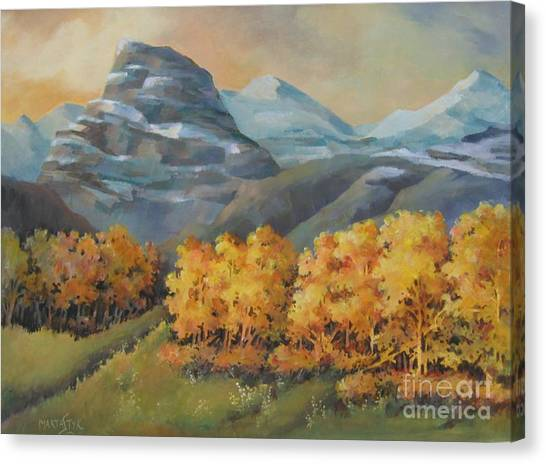 Autumn At Kananaskis Canvas Print