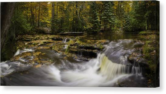 Canvas Print featuring the photograph Autumn At Laughing Whitefish Falls by Owen Weber