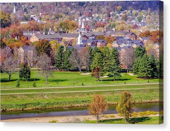 Ohio University Canvas Print - Ohio University South Green In Autumn by Robert Powell