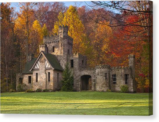 Autumn At Squire's Castle 1 Canvas Print
