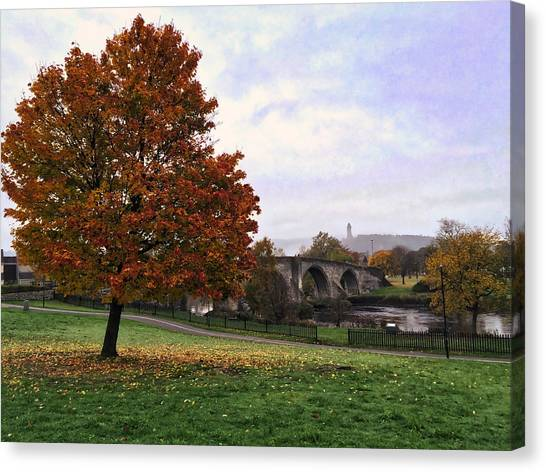 Autumn At Stirling Bridge Canvas Print