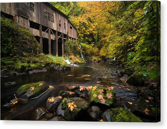 Autumn At The Grist Mill Canvas Print