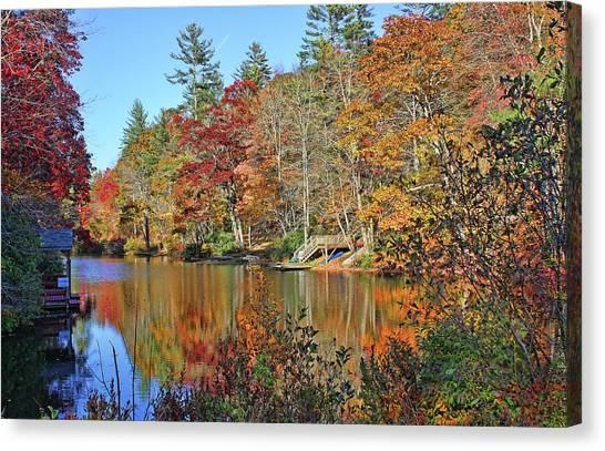 Autumn At The Lake 2 Canvas Print
