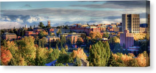 Pac 12 Canvas Print - Autumn At Wsu by David Patterson