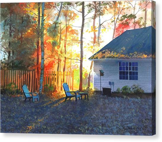 Autumn Backyard Canvas Print