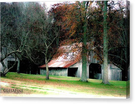 Autumn Barn In Alabama Canvas Print