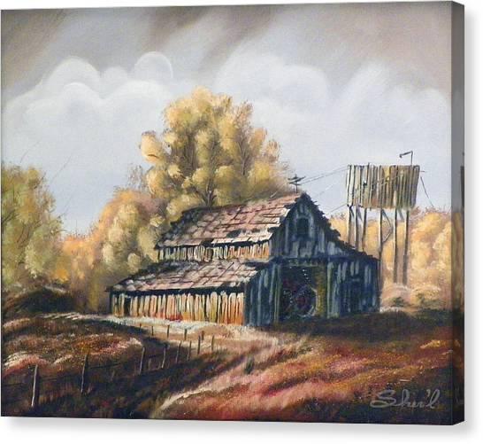 Autumn Barnyard Canvas Print