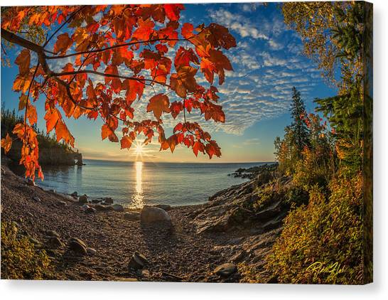 Autumn Bay Near Shovel Point Canvas Print